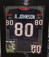ANDRE JOHNSON HOUSTON TEXANS Framed Signed Jersey plus Photo JSA