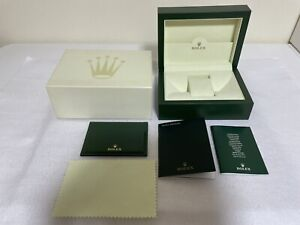 GENUINE ROLEX watch box case wave 39139.64 Medium DATEJUST Booklet ENG 100045