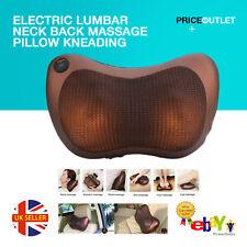 Electric Lumbar Neck Back Massage Pillow Kneading Cushion Heat Home Car
