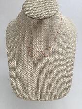 "Rose gold three circle necklace. Delicate interlocking circles. Handmade. 16"""