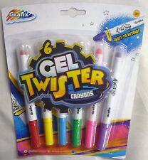 Paquete De 6 Gel Twister colorido Lápices de Colores. gran Regalo o Relleno Bolsa Fiesta