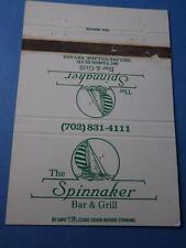 SPINNAKER BAR & GRILL RESTAURANT INCLINE VILLAGE NEVADA MATCHBOOK VINTAGE