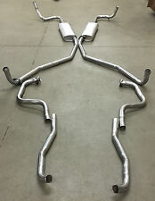 1967-1970 BUICK RIVIERA DUAL EXHAUST SYSTEM, ALUMINIZED WITHOUT RESONATORS