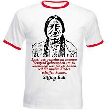 Sitting Bull Zitate - NEW COTTON RED RINGER TSHIRT