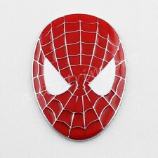 Red Style Spider-Man Emblem Badge 3D Sticker Decal Auto Car Accessory Decor Trim