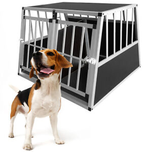 Aluminum Dog Kennel Pen Medium Large XL Pet Run Crate Cage Car Travel Carrier UK