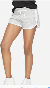 Justice Active Girls' Size 8 Gray Dolphin Shorts with Justice Graphic on Front