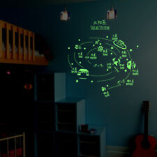 Solar System Planet Night Light Luminous DIY Wall Sticker Glow Decal In The Dark