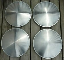 """15"""" Racing Disk Full Moon Saucer Set of 4 Wheel Covers Hubcaps Stainless Steel"""