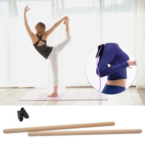 2pcs/set Yoga Sticks Stretching Tool Gymnasts Durable Indoor Sports Body Shaping