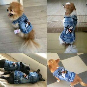 Pet Dog Clothes Puppy Dog Cat Denim Vest Jean Jacket Various Denim Coat Apparel
