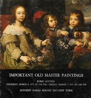 Sotheby's Important Old Master Paintings Auction Catalog March 1975