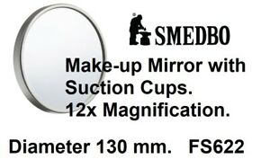 Smedbo Outline Shaving/Make-up Mirror with Suction Cups.12x Magnification.130mm