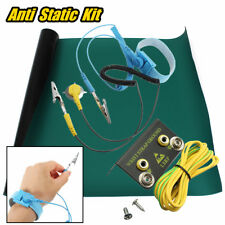50x60cm Anti Static Green Desktop ESD Grounding Mat +Wrist Strap +Cord + Ground