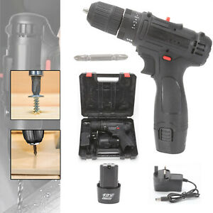 POWER DRILL 12V LITHIUM-ION BATTERY CORDLESS COMBI DRIVER ELECTRIC SCREWDRIVER