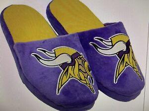Minnesota Vikings NFL Men's Big Logo Slip On Slippers ~ NWT