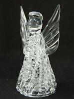 Angel Figurine, Spun Glass, Crystal Clear, Decorative Ornaments