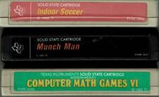 TI-99/4A LOT OF 3 CARTRIDGES INDOOR SOCCER, MUNCH MAN, COMPUTER MATH GAMES VI