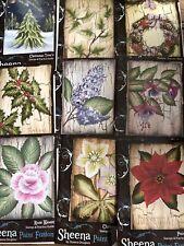 Sheena Douglass Rubber Stamp Set Christmas Job Lot X9 Paint Fusion New Craft