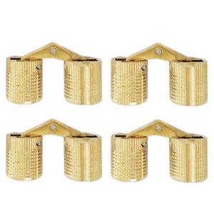 4pcs 10/12mm Brass Hidden Barrel Hinge Invisible Hinge Concealed Worktop  ZDD