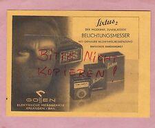 ERLANGEN, Werbung 1949, Gossen elektrische Messgeräte Sixtus 2 Belichtungsmesser