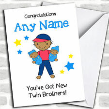 Asiatico fratello maggiore New Baby Twin Brothers Ragazzi pari livello carta personalizzati