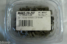 """Prime Line Make-To-Fit  3/8"""" Diecast Screen Clip Adobe PL 16517  tub of 100"""