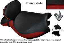 DARK RED & BLACK CUSTOM FITS TRIUMPH ROCKET 111 3 DUAL BACKREST SEAT COVER