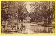 cpa 28 - CHAUDON (Eure et Loir) Vue sur l'Eure Vanne Écluse