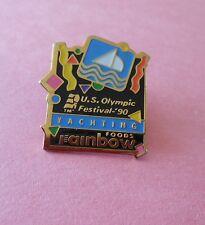 Yachting Olympic Festival Rainbow Foods Sponsor Pin