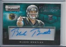 BLAKE BORTLES 2014 PLAYBOOK FIRST ROUND EDITION ACETATE ON CARD AUTO RC #D 15/75