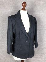 FF Womens Jacket Blazer Size 16 Denim-like Blue
