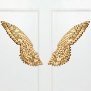 LARGE Angel Wings Wall Art Gold Ornament Pair Chic Vintage Home Decoration