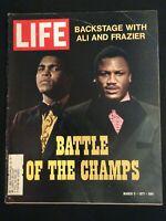 Vintage ~ LIFE Magazine March 5, 1971  Muhammad Ali & Joe Frazier   M1808
