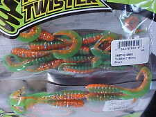 "Mister Twister 3"" Tri-Alive Grubs 15 Pack TAMT15-128BG in PERCH for Walleye"