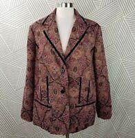 Coldwater Creek Womens size 2X 18/20 Jacket Coat Blazer Jacquard professional