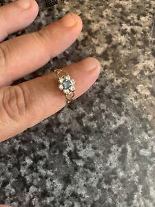 Vintage 9CT Gold Flower Ring Size M