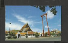 Colour Postcard  Wat Suthat and the Giant Swing Bangkok Thailand unposted