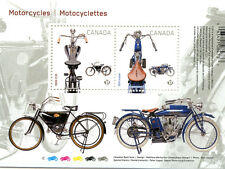 2013 #2646 Canadian Motorcycles souvenir sheet mint Canada