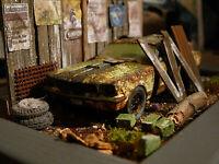 Ford Mustang Shelby GT Bj.1965 - Oldtimer Scheunenfund Diorama im Maßstab 1:43