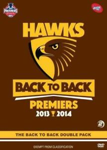 AFL Premiers 2013-14 - HAWTHORN - Back To Back DVD DOUBLE PACK FOOTBALL NEW R4