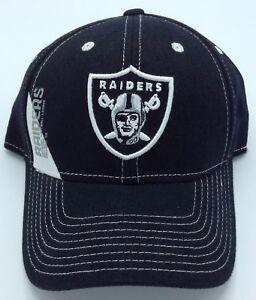 NFL Oakland Raiders Reebok Adult Structured Adjustable Fit Curved Brim Cap NEW