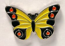 BUTTERFLY - PIN BADGE  - YELLOW ADMIRAL STYLE   (OB-13)
