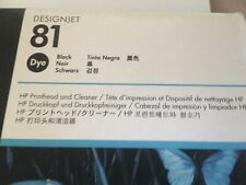 More details for genuine unused hp 81 designjet black printhead and cleaner warranty may 2016
