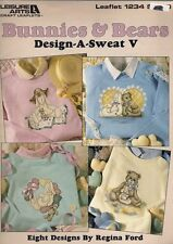 BUNNIES & BEARS ~  DESIGN-A-SWEAT V - LEISURE ARTS painting