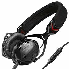 V-MODA Crossfade M-80 On-Ear Noise-Isolating Metal Headphones Black w/ Red - NEW