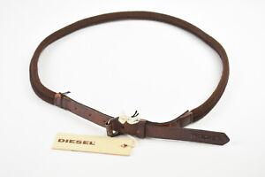 RRP$82 DIESEL BUNGOS GURTEL Men 100 Brown Leather Vintage Style Belt 18444
