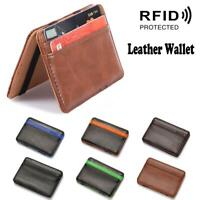 Leather Magic Wallet Milkman Taxi Bus Money Trader Puzzle Wallet Holds Notes