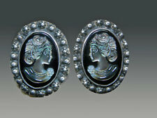 Of Pearl Cameo S/S Clip/Post Earrings Sale- Amy Kahn Russell Hand Carved Mother