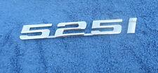 BMW 525i TRUNK EMBLEMS OEM (2 PIECES) 525 i